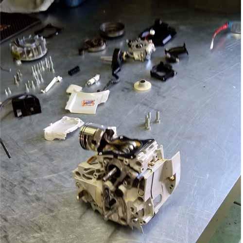 תיקון מסור שרשרת STIHL - שיפוץ מנוע